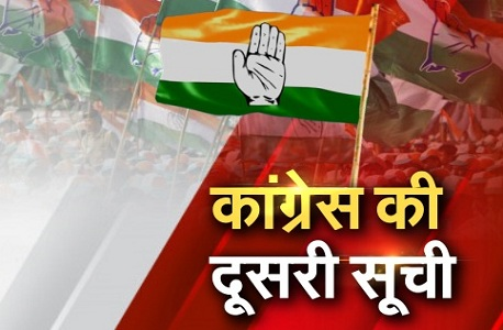 Second list Congress released