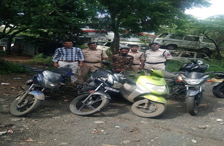 Police arrested vicious vehicle theft, recovered 2 lakh precious two wheelers