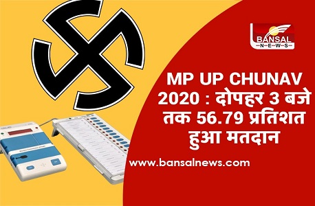 MP UP - CHUNAV 2020 turnout news