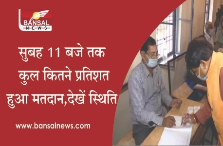 MP UPCHUNAV 2020: 26.60 percent voting in state till 11 am