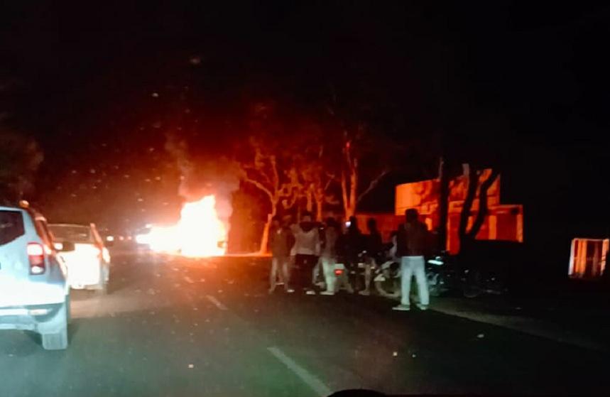 Neemuch Car Fire