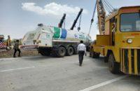 Oxygen Tanker Overturned